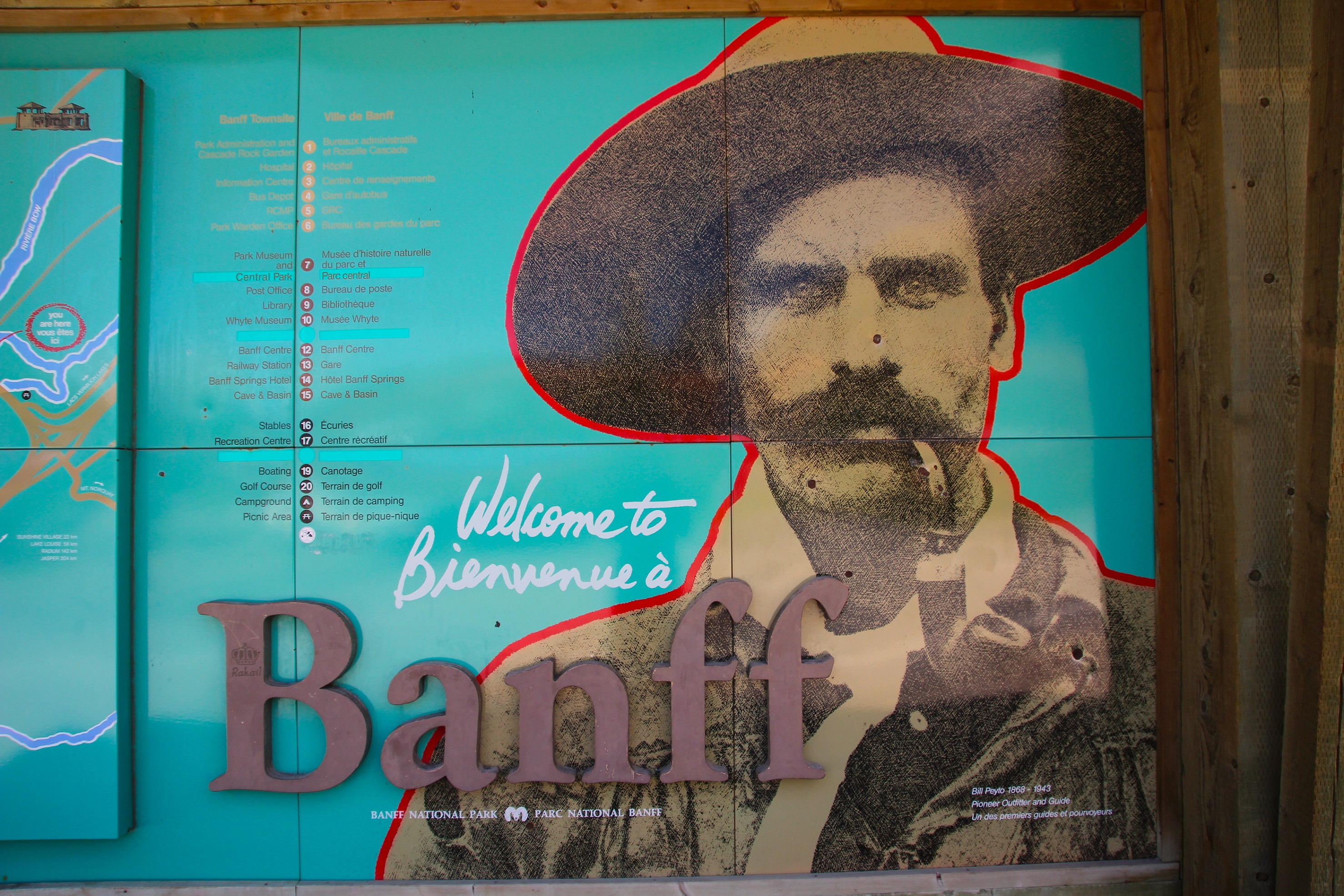 001 - Welcome To Banff Sign