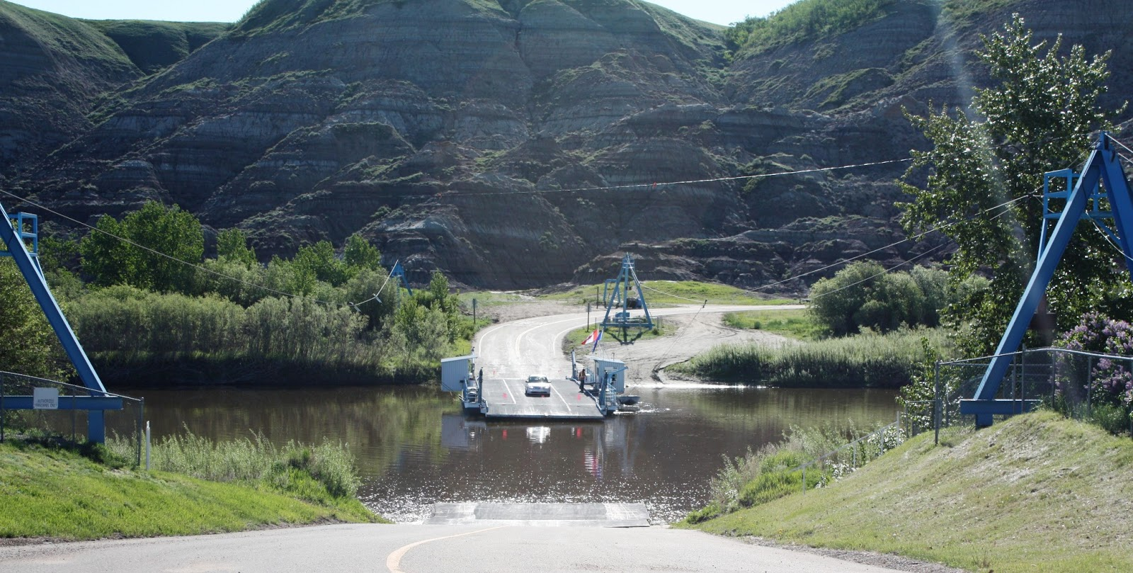 006 - Crossing The Red Deer River on the Bleriot Ferry