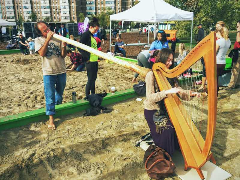Fun with harps and didgeridoos