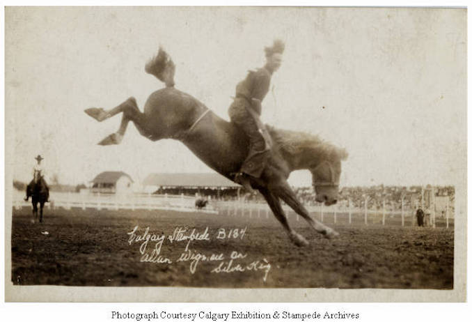 1930 - Allan Wigmore on Silver King, Calgary Stampede