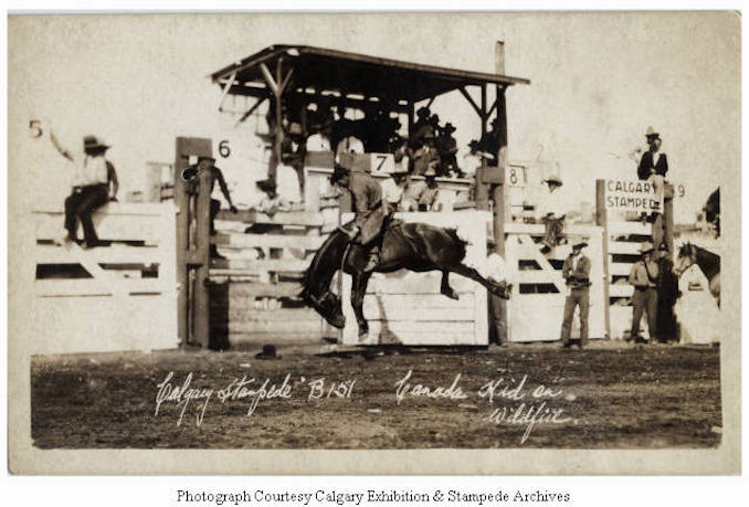 1930 - Canada Kid on Wildfire, Calgary Stampede