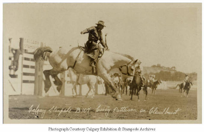 1930 - Casey Patterson on Cloudburst, Calgary Stampede