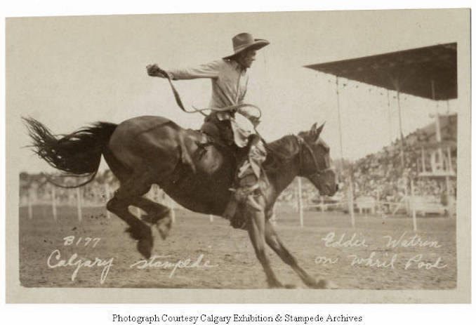 1930 - Eddie Watrin on Whirl Pool, Calgary Stampede