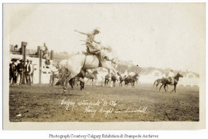 1930 - Harry Knight on Snowball, Calgary Stampede