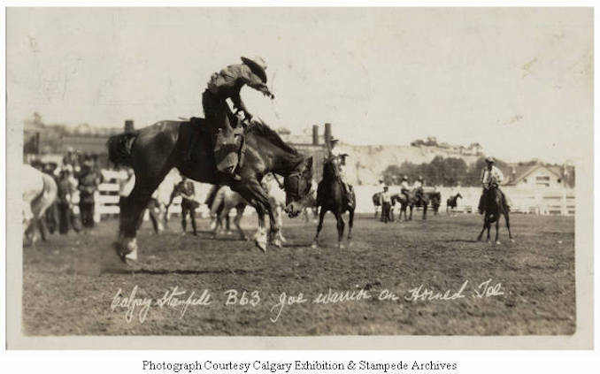 1930 - Joe Warrior on Horned Toe, Calgary Stampede