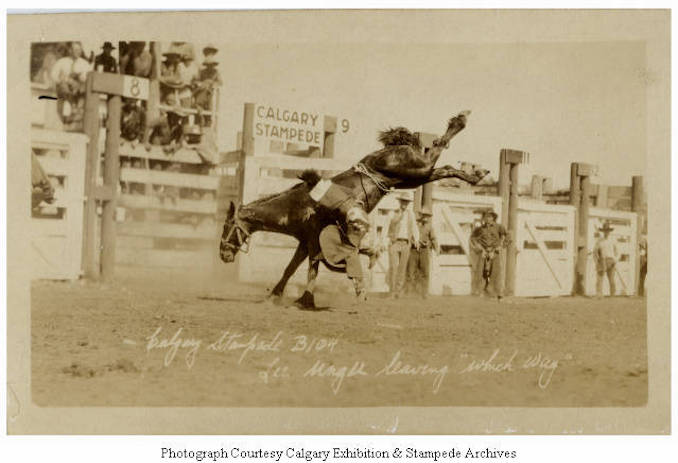 1930 - Lee Unger leaving Which Way, Calgary Stampede