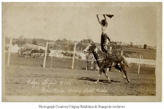 1930 - Miss Malee Harding, trick rider, Calgary Stampede