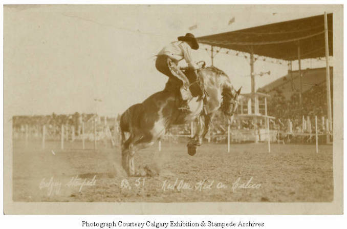 1930 - Red Deer Kid on Calico, Calgary Stampede