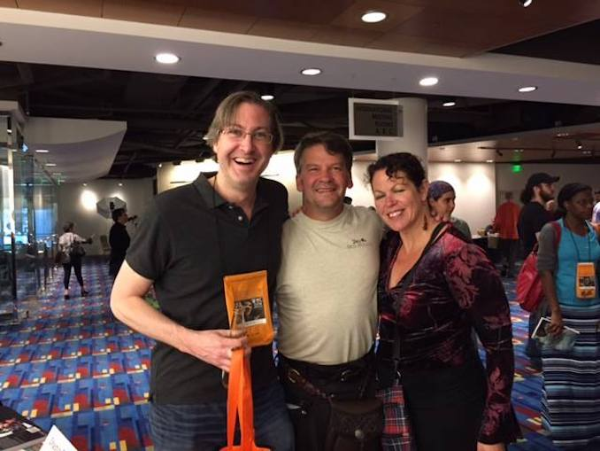 With friends and colleagues David Fitzgerald and Dana Fredsti at the Horror Writers Convention