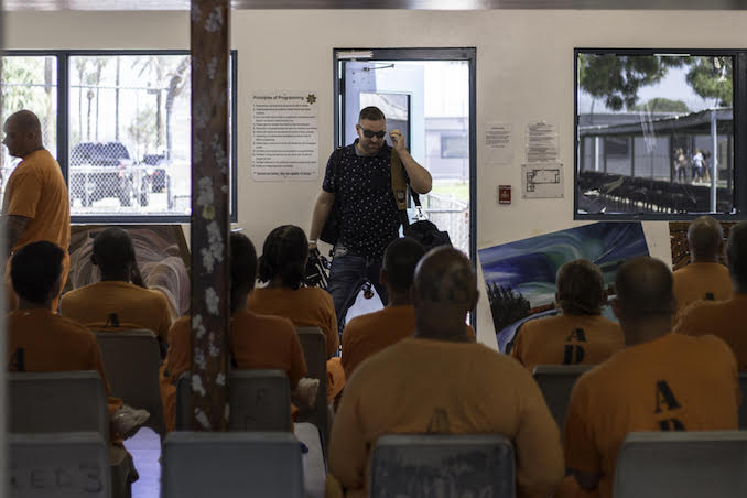 Adam Scorgie - Adam Scorgie - Caught off-guard walking into a room with 60 inmates for our Inmate#1 The Rise of Danny Trejo Doc