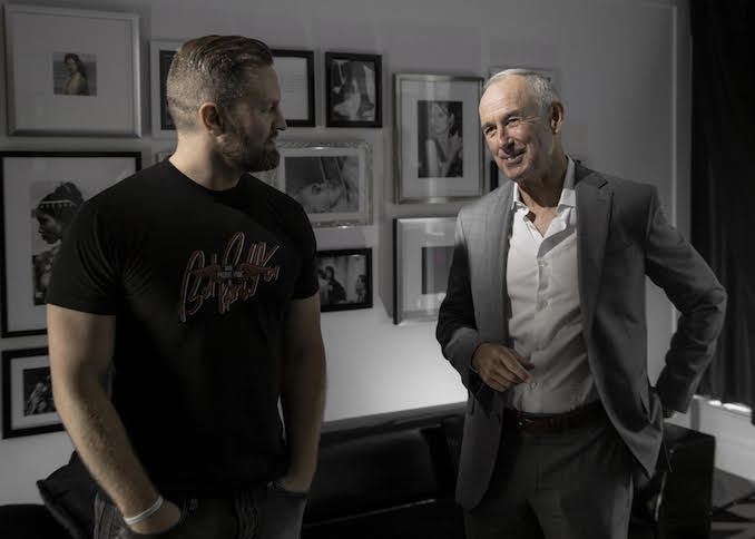 On set with Ron MacLean, while filming The Bailey Experience