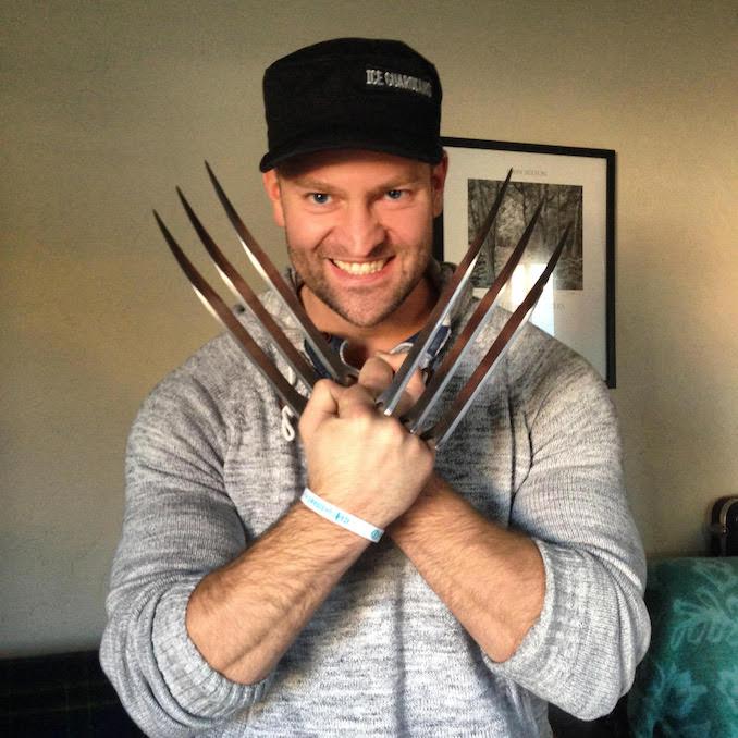 Playing around with adamantium claws, was always a huge Wolverine fan