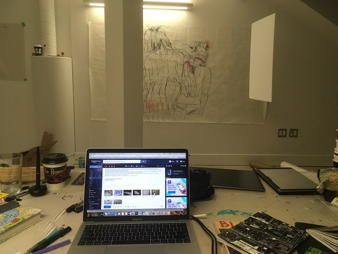 Shot of my workspace currently with CAAF in cSPACE. I'm a messy worker.