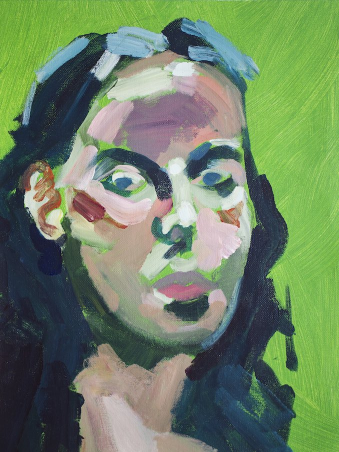 Self portrait - A study I painted from life during a professional development workshop for art teachers. I enjoy professional learning and meeting with colleagues.