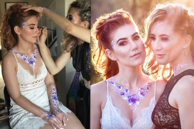 Behind the scenes of a personal branding shoot, and a sample of the finished product. Credits: Creative Director, Makeup Artist & Model: Jessica Mercury; Body Art by Nadines Dreams; Hair Art by Anika Pierik; Photography by Toi et Moi Photography; Model: Caitlyn Oravkin.