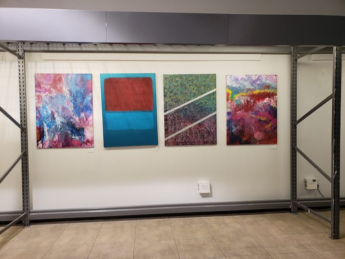 Courtney Dahoy - Four of her paintings currently for sale.