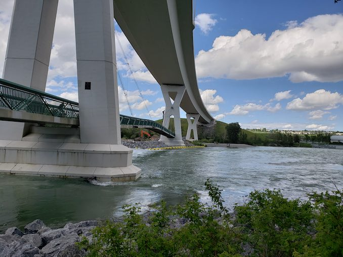 A photo Under the bridge/Bow River nearby Bowness park/Baker park. Frequently on adventures for exercise & photos.