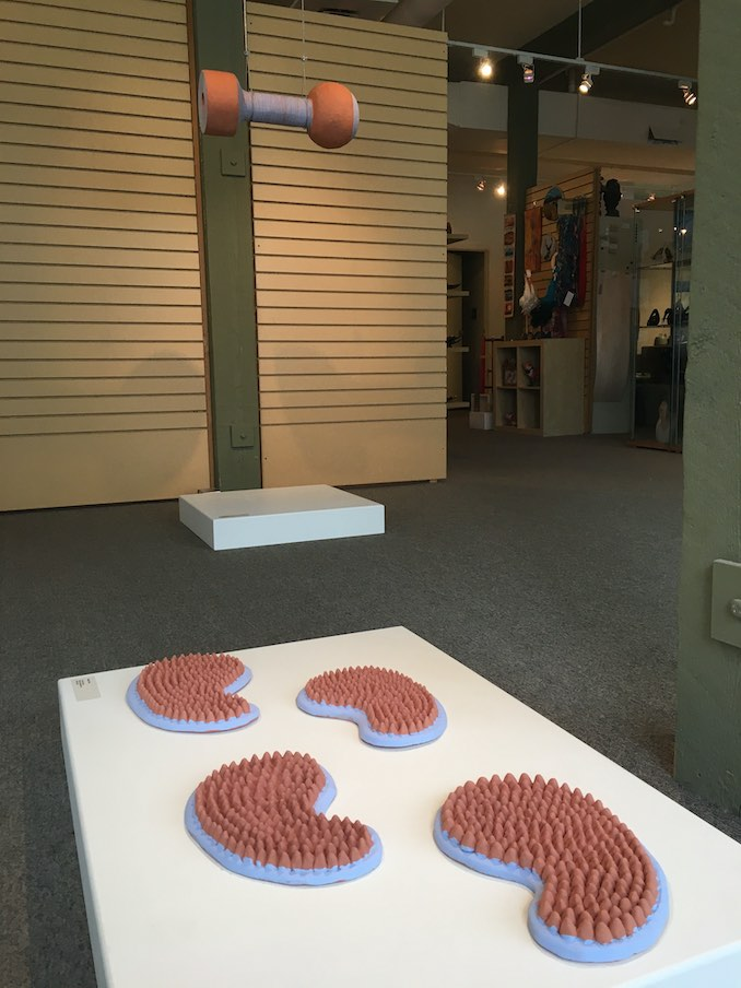 """I finished having a group show with the Alberta Craft Council in Edmonton titled """"Many Things at Once""""."""