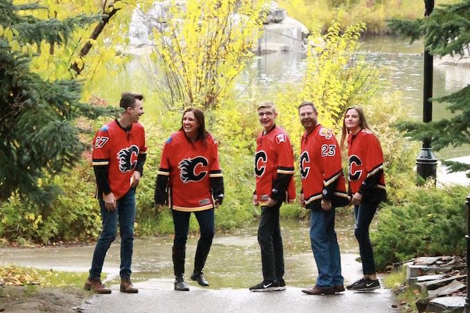 My family of Flames Fans!! I love this crew, they are my greatest blessing and always make me laugh. We can often be found watching and cheering on our favourite sports teams. Thankfully we tend to root for the same teams!