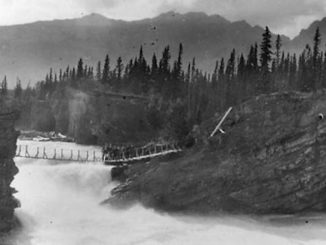 Historic Photos of Waterfalls from Alberta