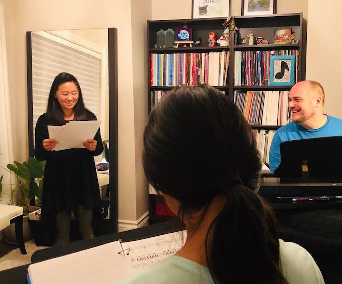 Teaching at my studio with my accompanist and musical partner in crime Dan Perrott