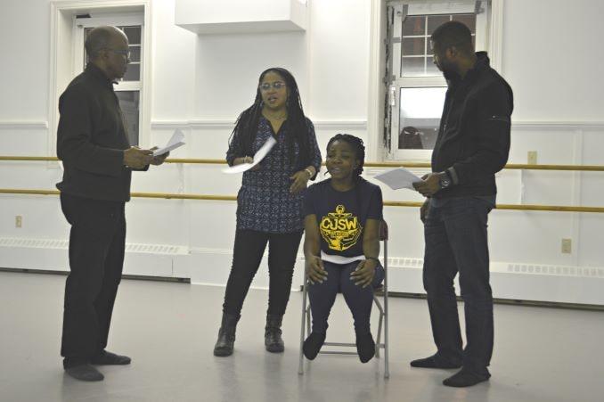 Melanee directing rehearsal