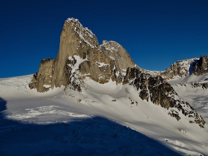 Snowpatch Spire in the Bugaboos. Photo Credit Jeff MacPherson