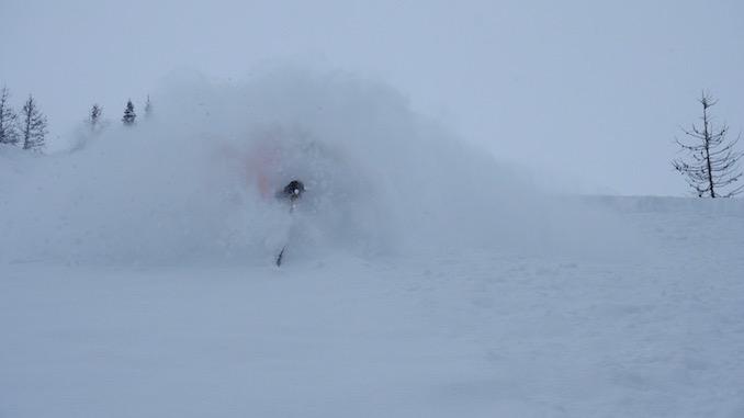 Crazy deep powder in the Bugaboos! Photo Credit: Jeff MacPherson