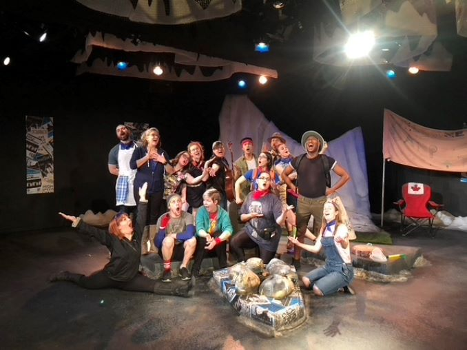 Caitlynne Medrek and the cast of Dirty Laundry 2020 (Calgary's completely improvised weekly soap opera)