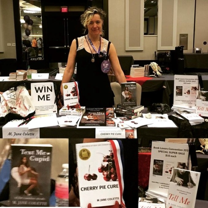 This is me at the inaugural Booklovers Conference in New Orleans in May 2019, bracing myself for the Big Book Bash day... 200 authors... thousands and thousands upon thousands of readers... (I sold out in less than two hours, it was amazing!)