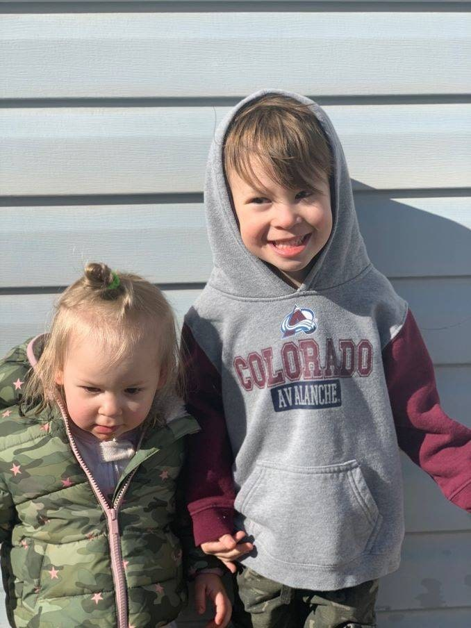 Chantel's children Beau (4) and Harper (2) enjoying the nice weather!-min