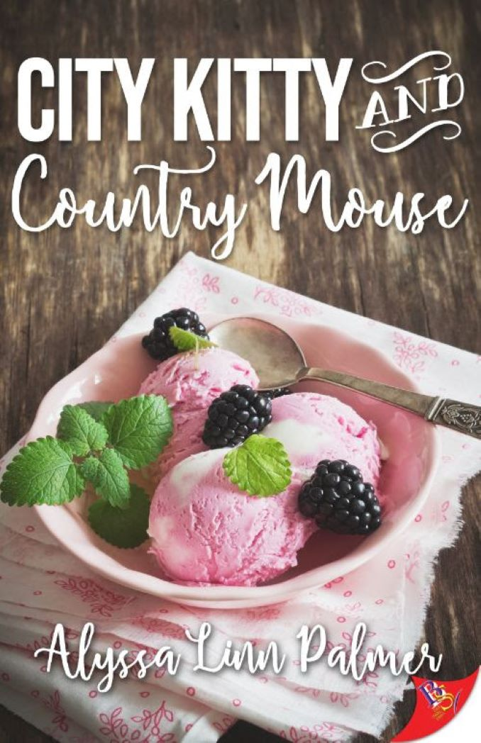 Cover for the author's latest release, foodie lesbian romance City Kitty & Country Mouse, from Bold Strokes Books.
