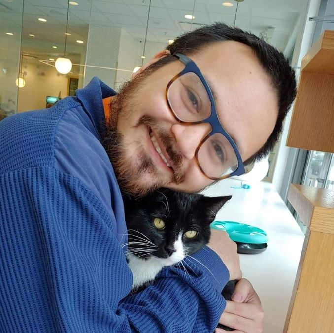 I love cats! So much! This photo is from one of my many dates with my boyfriend at the Royal Cat Cafe in Kensington.