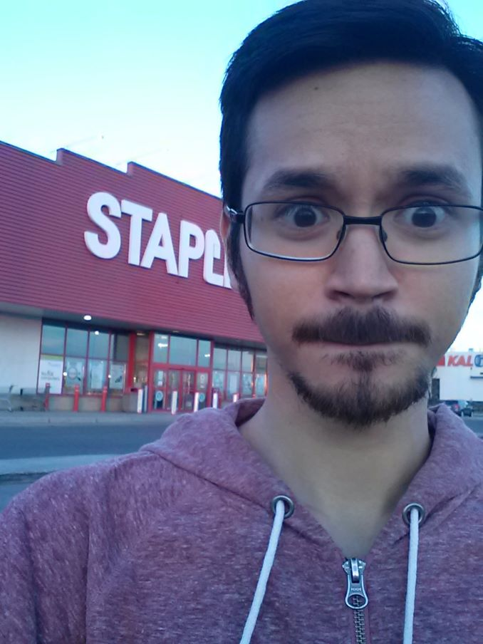 Bryan Sandberg I worked at Staples for nearly 5 years. This is me after leaving one of my more eventful shifts!