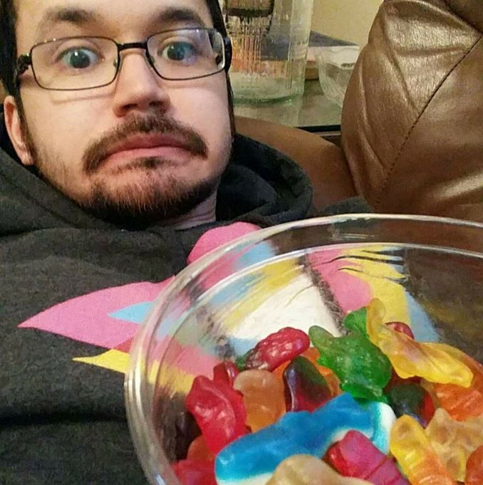 This is me on the couch realizing I have committed to eating too many gummies in one go. Uh oh!