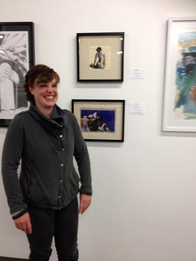 Failing miserably at being photogenic at the Knox Contemporary Gallery of Art. This show kicked off a membership with the Knox co-op where I met inspiring artists and made special connections with people who resonate with my work.