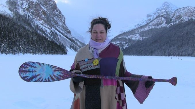 A painted paddle for Olympic hopeful Haley Daniels, for her painted paddle fundraiser.
