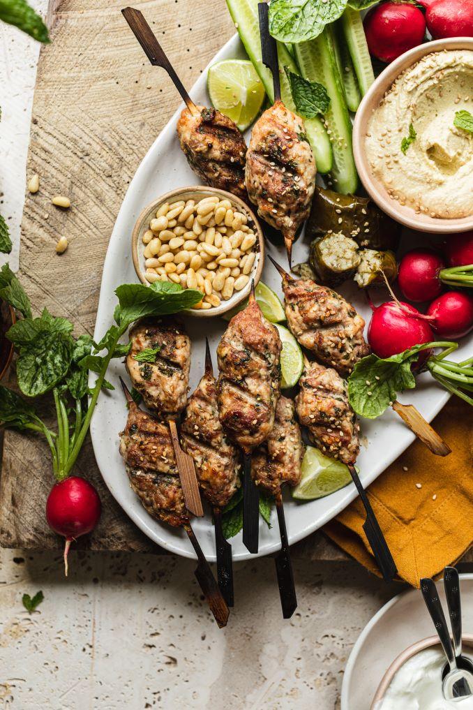 Turkey Kofta Mezze Platter