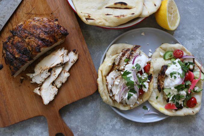 Grilled Turkey Shawarma