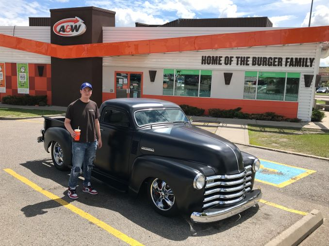 Adam Cruising with his Dad in his 1953 Chevrolet Custom Hot Rod
