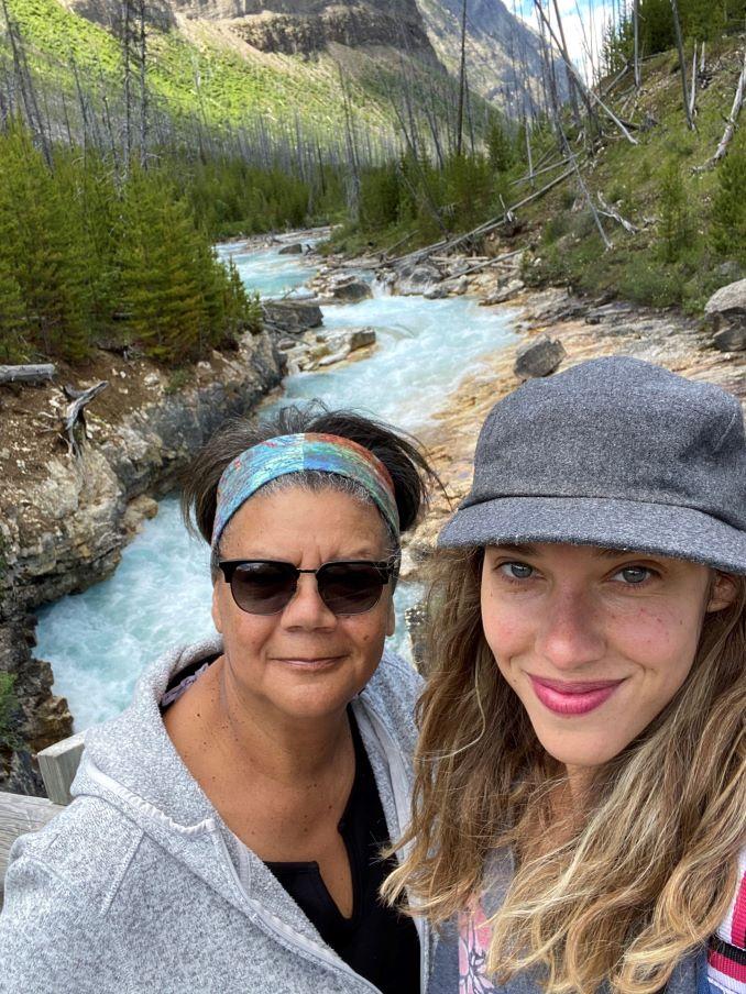 Cheryl Foggo and her daughter Chandra hiking
