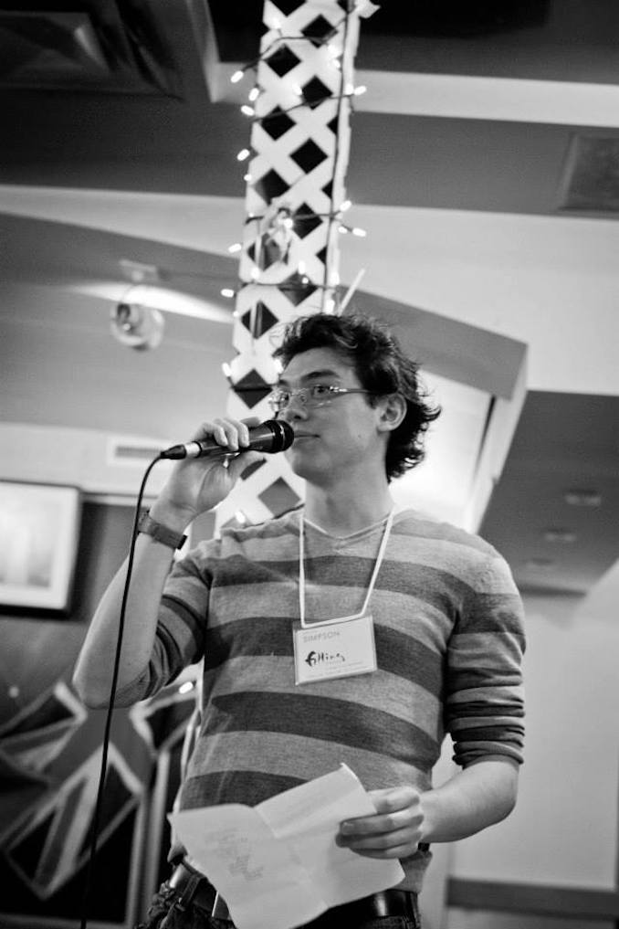 (Photo by Caitlyn Bailey-Cumming) This is an older photo of me participating in a reading for the Calgary-based magazine, filling Station. Since this event, I have become the president of the magazine and continue to work hand in hand with its amazing editorial and collective members.