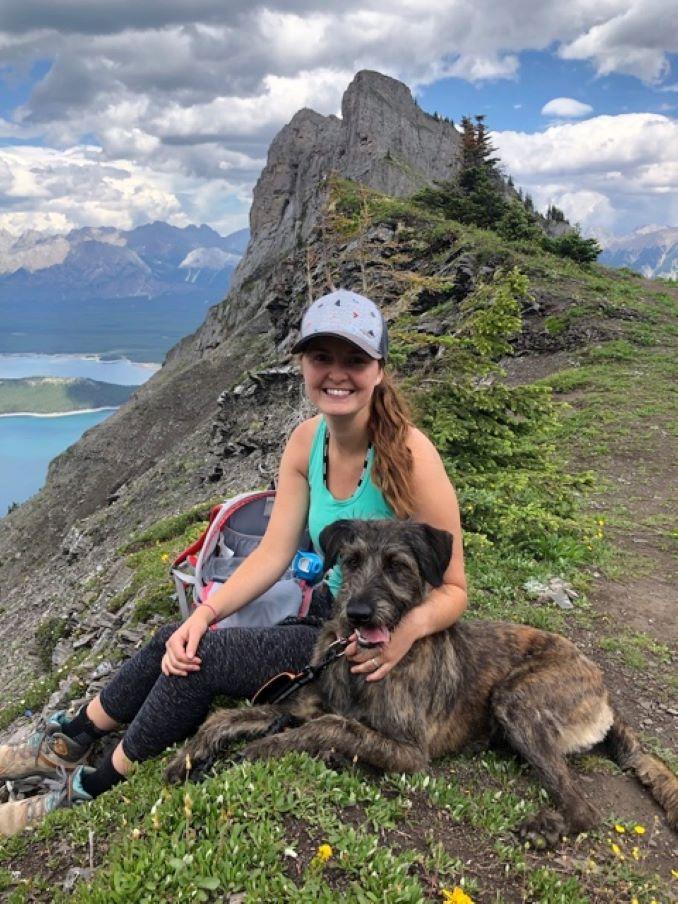 hiking with Kona