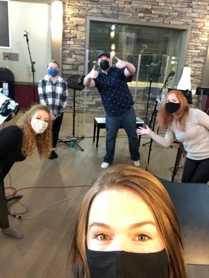 Studio Recording for Annie the Musical 2020