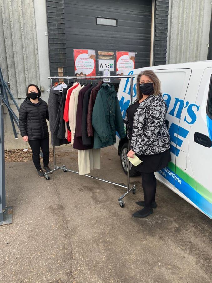 Over 100 Coats were donated by Fishman's Personal Care to WINS