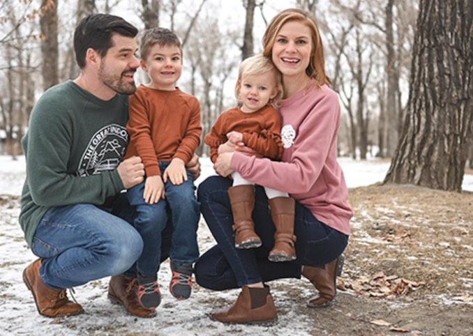 My lovely family. Wife Krista. Son Benjamin (5). Daughter Eva (2), and myself.