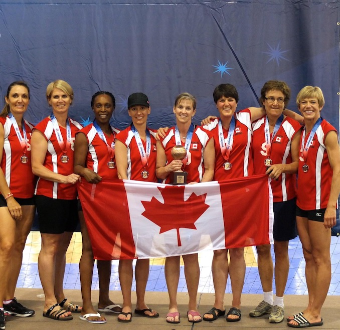 Playing Volleyball in International Masters Tournaments.
