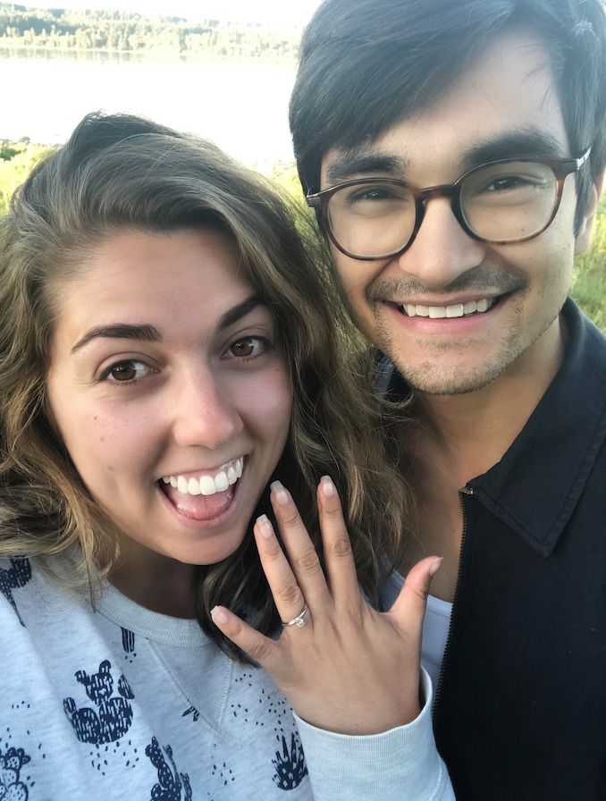 Getting engaged on the West Coast
