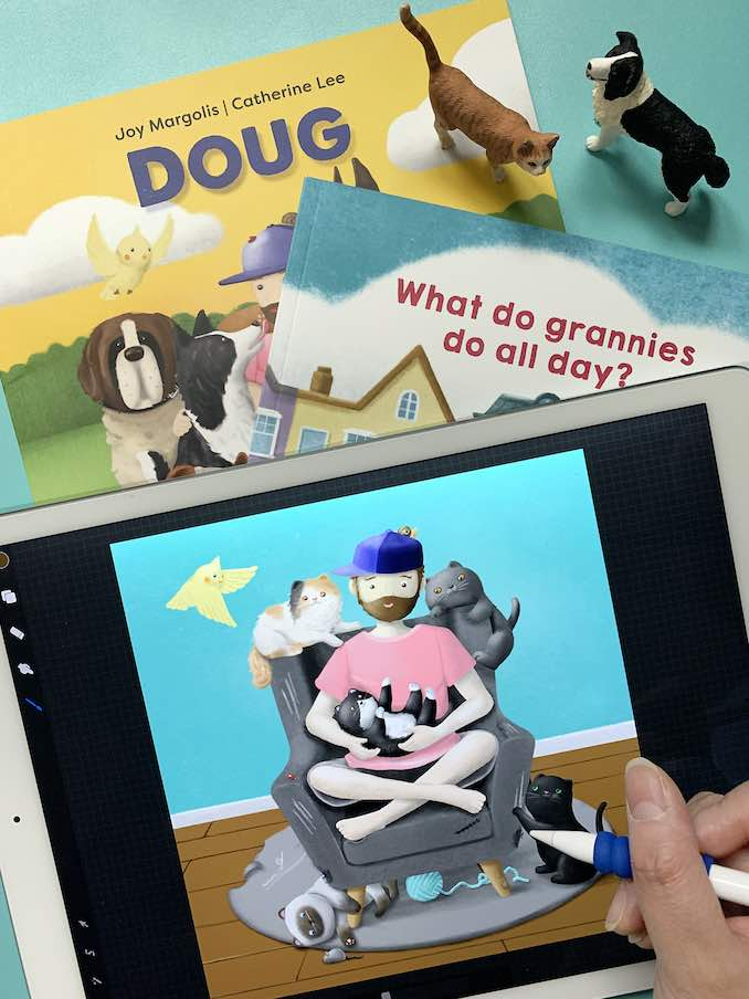 """I had the pleasure to work with author Joy Margolis on the children's books """"Doug"""" and """"What Do Grannies Do All Day"""". I love helping to bring these characters to life"""