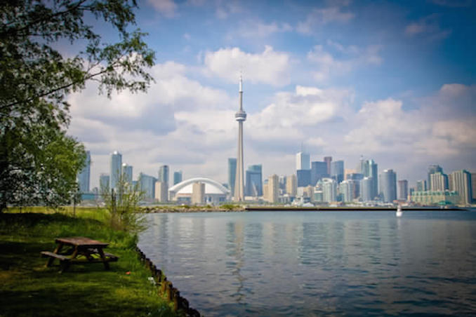 Toronto Islands view of downtown